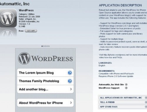 Testing WordPress for iPad
