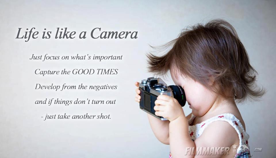 Life is like a camera…