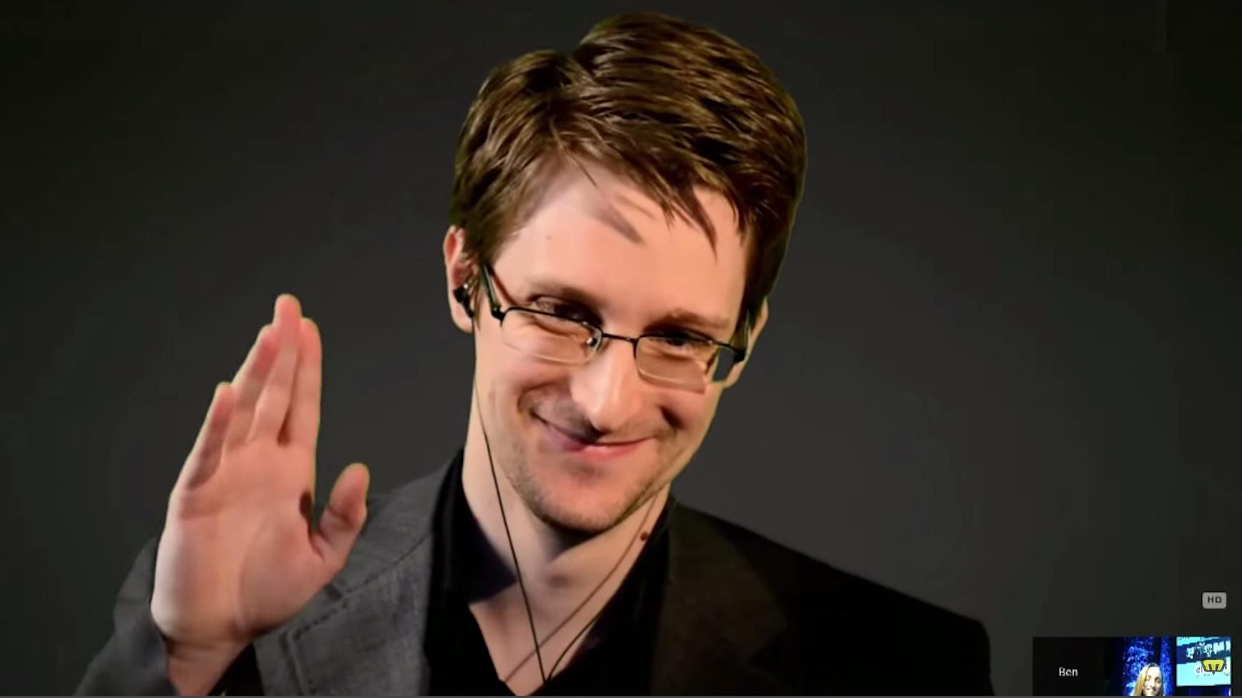 Edward Snowden snakket om overvåking på Nordiske Mediedager